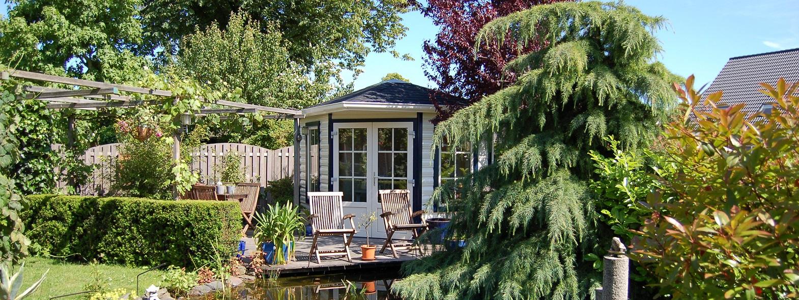 Fünfeck Gartenhaus aus Kunststoff nach Maß